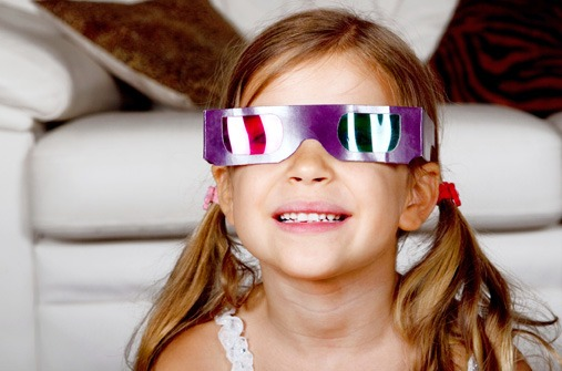 Kinder und Fernsehen: Sind 3-D-Filme für mein Kind geeignet?