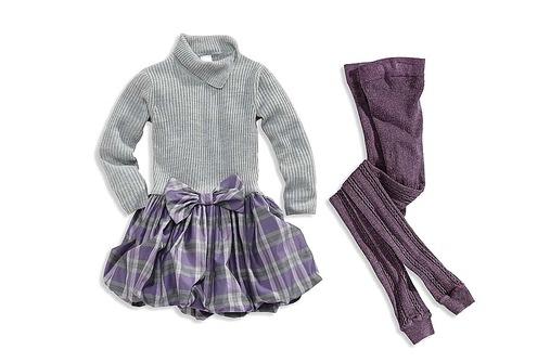 Festliche Kindermode: Kleid und Leggings von C&A