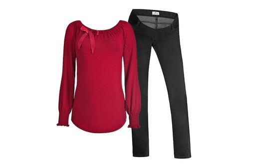 Festliche Umstandsmode: Jeans von Bellybutton, Shirt von Sweetbelly