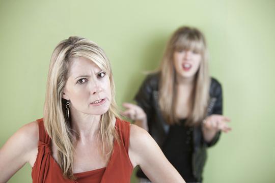 beleidigte Mutter