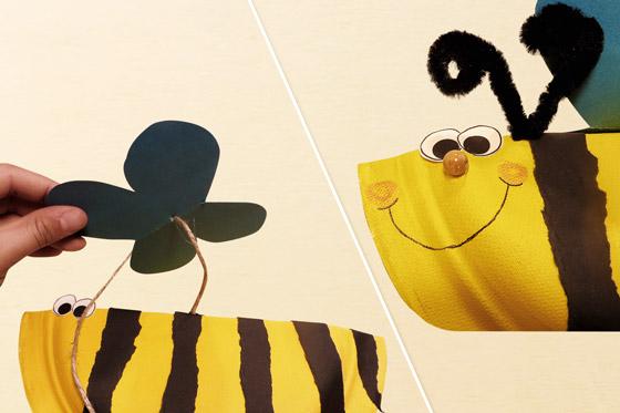Biene aus Papp basteln