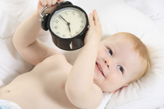 Drei Babys zur gleichen Uhrzeit