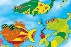 Coole Fische aus Window Color