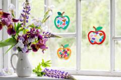 """Fensterbild """"Leuchtende Äpfel"""""""