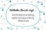 Glückwünsche zur Geburt: Wilhelm Busch sagt ...
