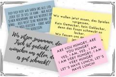 Tischsprüche für Daheim und den Kindergarten