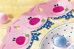 Basteln mit Papier: Glücksschweinchen