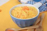 Karottenbrei mit Lachs