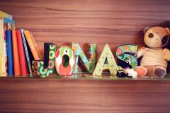 Buchstaben fürs Kinderzimmer basteln