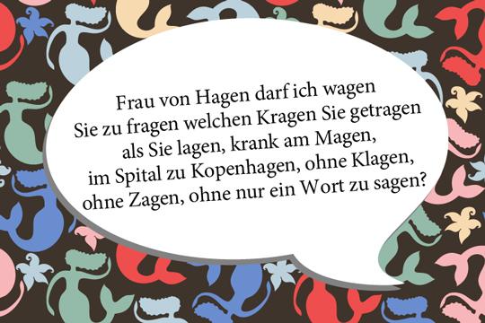 Zungenbrecher: Frau von Hagen