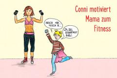 Conni motiviert ihre Mama zum Fitness