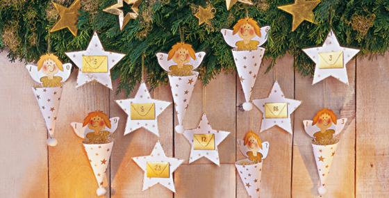 Engel in der Tüte als Adventskalender: kostenlose Anleitung