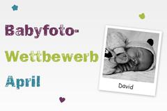 Babyfoto-Wettbewerb April