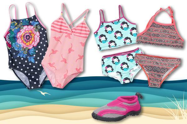 Kindermode Sommer 2017: Badeanzüge für Mädchen