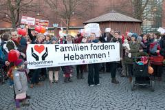 Demonstration: rettet unsere Hebammen