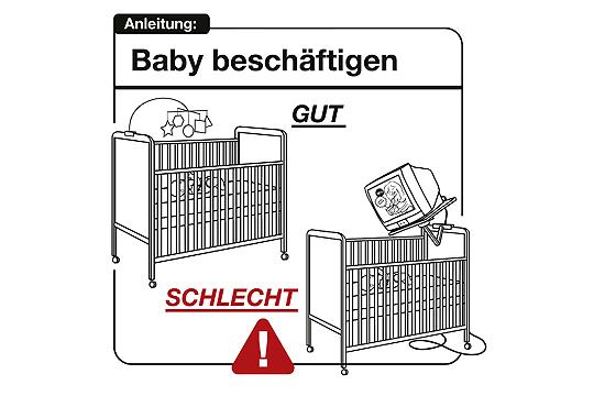 Bedienungsanleitung Baby: sinnvolle Beschäftigung