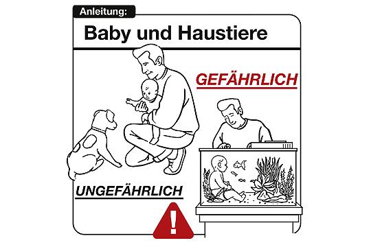 Bedienungsanleitung Baby: Baby und Haustiere