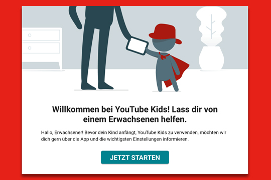 YouTube Kids Einstellungen
