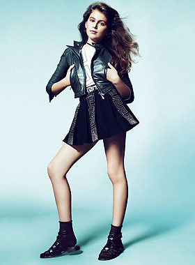 Kaia Gerber für Young Versace