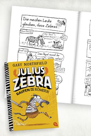 Comicbücher für Kinder:  Julius Zebra – Raufen mit den Römern
