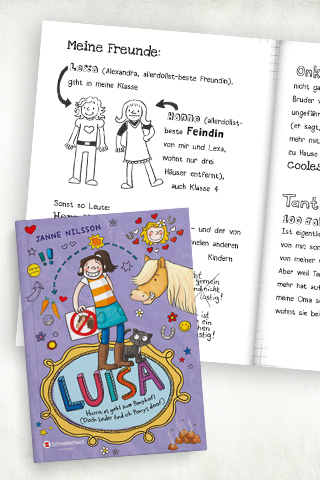 Comicbücher für Kinder:  Luisa – Hurra, es geht zum Ponyhof!