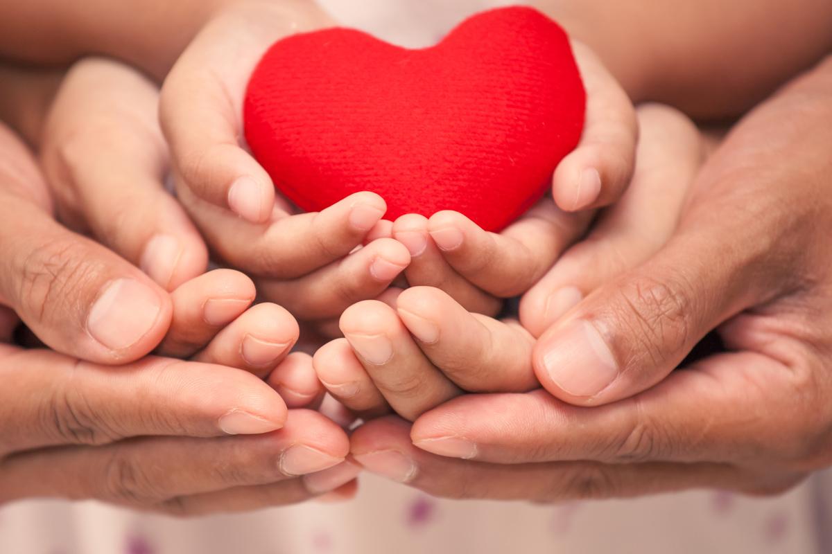 Eltern und Kind Herz