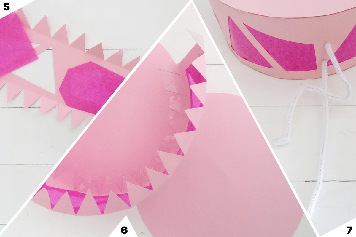 Flamingo-Laterne basteln