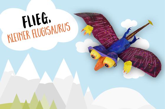 Flug-Dino aus Eierschachtel basteln