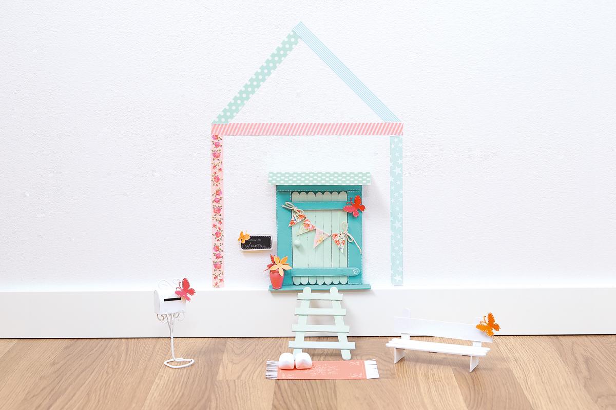 Wichteltür bauen für kleine Wichtel