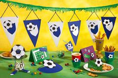 Fußball-Party für den Kindergeburtstag: Vorlage und Bastelanleitung