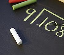 Formeln auf Tafel