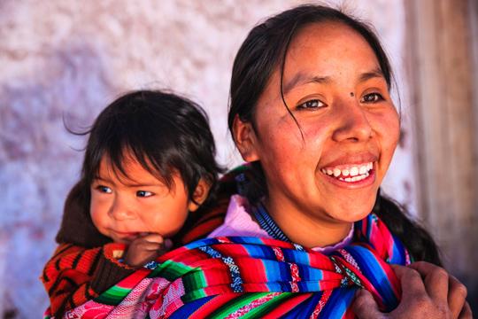 Frau und Kind Guatemala