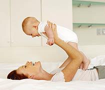 Gymnastik für Mutter und Baby