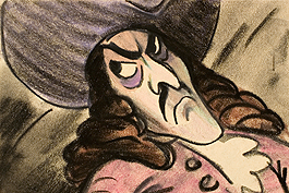 Original Skizze von Captain Hoock