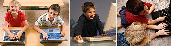 Kinder vor dem Computer
