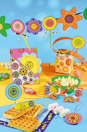 Bastelidee für den Kindergeburtstag: Lollipop-Party für Mädchen