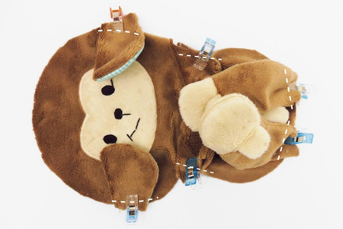 Äffchen-Spieluhr Körper komplett