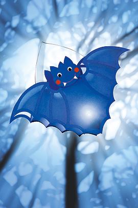 Fledermaus-Laterne für Halloween