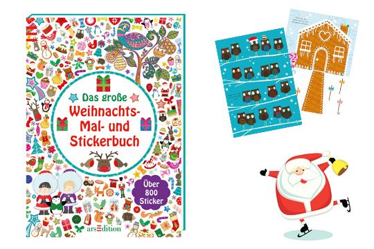 Nikolausgeschenke: Mal- und Stickerbuch