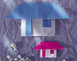 Origami Falten Haus Familiede