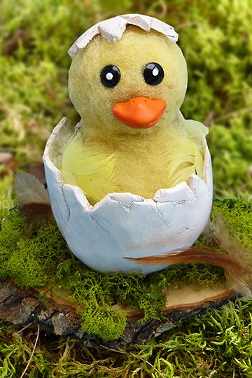 Osterküken basteln: Material