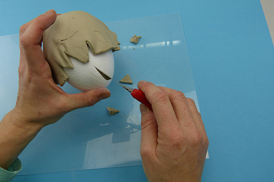 Osterküken basteln Schritt 2: Modelliermasse