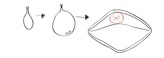 Pappmache-Hai: Schritt 3