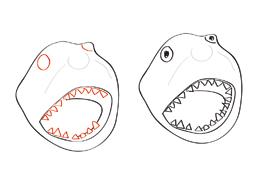 Pappmache-Hai: Schritt 6