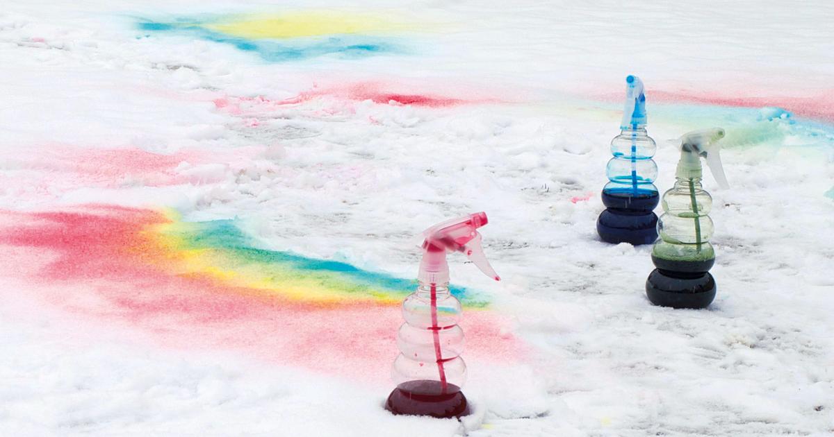 Schnee färben