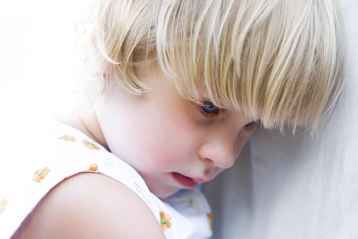 Schüchternes Kind