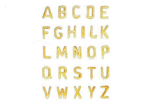 Geschenke für die Schultüte: Buchstabennudeln