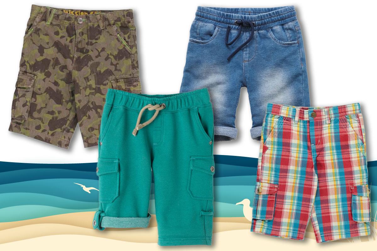 Kindermode Sommer 2017: Shorts für Jungen