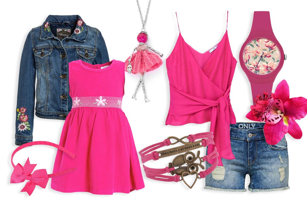 Sommerlook pink Partnerlook