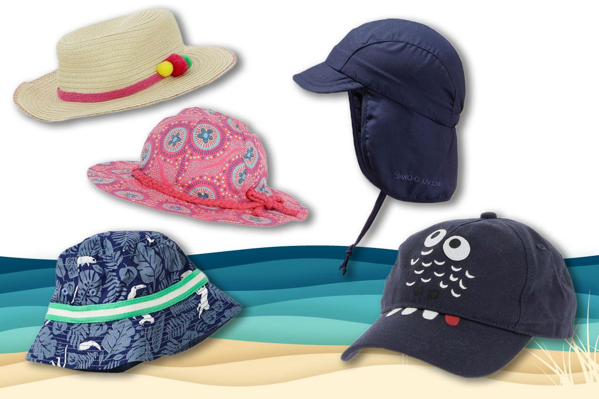 Kindermode für den Sommer: Sonnenhüte